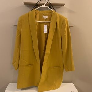 Yellow Light weight blazer